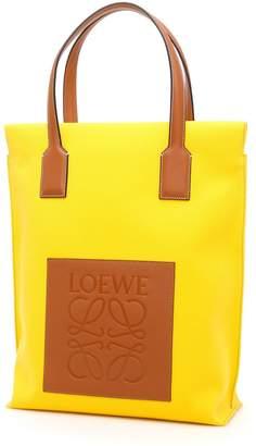 Loewe Canvas And Calfskin Shopper Bag