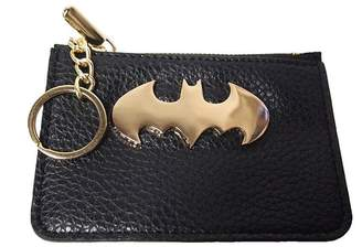 Batman Official Licensed DC Comics Gotham Logo Coin Purse with Keyring