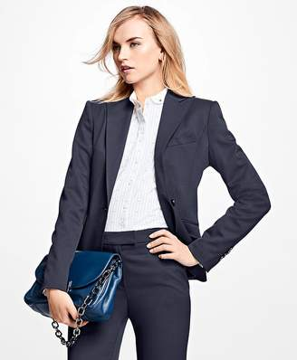Single-Breasted Stretch Twill Wool Blazer $598 thestylecure.com