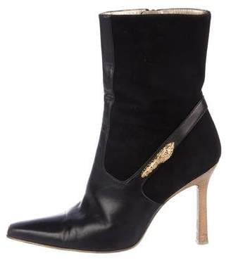 Gucci Pointed-Toe Ankle Boots