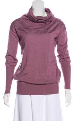 Malo Long Sleeve Cashmere & Silk-Blend Top