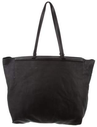 The Row Leather Carryall 12 Tote