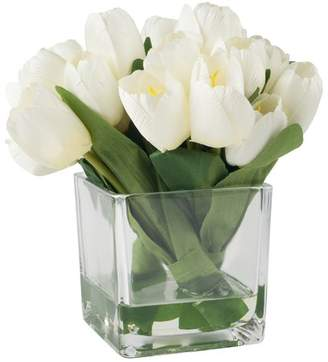 DAY Birger et Mikkelsen August Grove Tulip Floral Arrangement in Glass Vase Flowers/Leaves