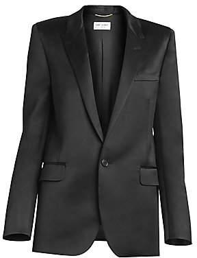 Saint Laurent Women's Satin Jacket