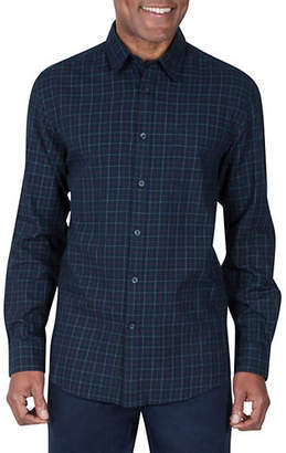 Haggar HERITAGE Tattersall Poplin Button-Down Shirt