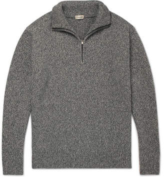 Camoshita Mélange Wool-Blend Half-Zip Sweater