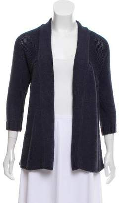 Vince Open-Front Pleated Cardigan