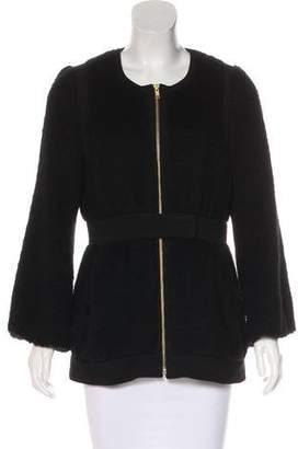 Loeffler Randall Wool Zip-Up Jacket