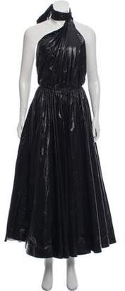 Calvin Klein One-Shoulder Evening Dress w/ Tags Black One-Shoulder Evening Dress w/ Tags