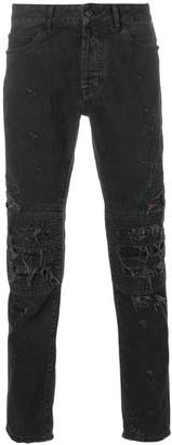 Marcelo Burlon County of Milan biker fitted jeans