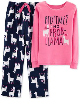 Carter's Little & Big Girls 2-Pc. No Prob-Llama Pajama Set