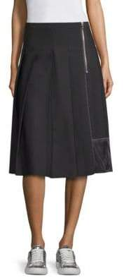 Marc Jacobs Women's Pleated A-line Skirt - Black - Size 8