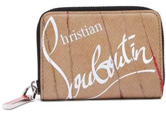 Christian Louboutin Kraft Panetonne Leather Wallet - Mens - Beige