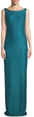 St. John Shimmer Sequin Knit Column Dress