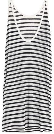 Striped Slub Jersey Mini Dress