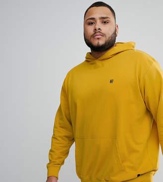 Replika Plus pullover hoodie in mustard