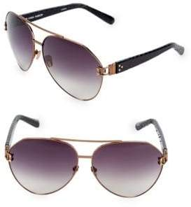 Linda Farrow Luxe 69MM Aviator Sunglasses