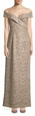 Vince Camuto Surplice Off-the-Shoulder Gown