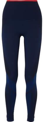 LNDR - Motion Paneled Stretch-knit Leggings - Navy