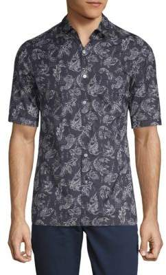 Lanvin Koi-Print Button-Down Shirt