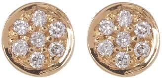 Bony Levy 18K Yellow Gold Round Pave Diamond Stud Earrings - 0.03 ctw