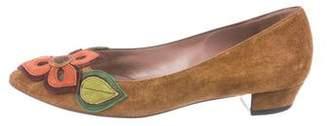Miu Miu Suede Pointed-Toe Flats