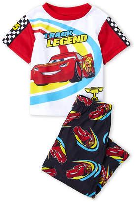 Disney Toddler Boys) Two-Piece Cars Printed Tee & Pants PJ Set