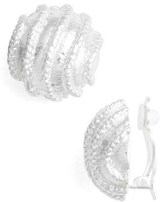 Karine Sultan Large Clip-On Stud Earings