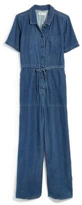 Madewell Wide Leg Denim Utility Jumpsuit