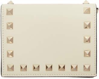 Valentino Off-White Garavani Rockstud Bifold Wallet