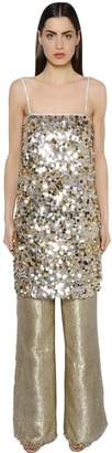 Gianluca Capannolo Sequined Crepe Tunic Dress