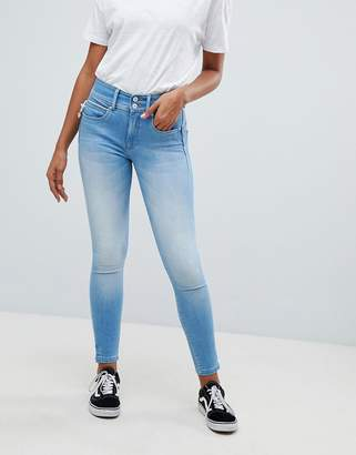 Salsa Push In Waist Sculpting Crop Skinny Jean