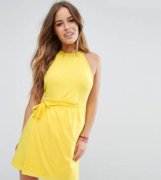 Asos Halter Backless Wrap Mini Sundress