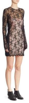 Alexander Wang Embroidered Pleated Dress