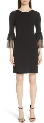 Michael Kors Lace Cuff Matte Jersey Dress