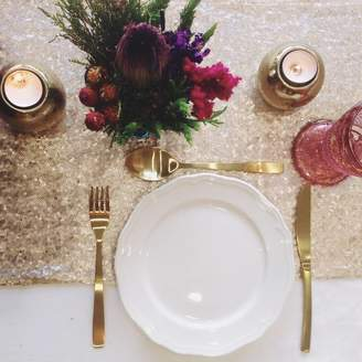 The Sweet Party Shop Champagne Blush Sequin Table Runner