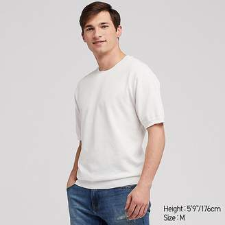 Uniqlo Men's Washable Crew Neck Short-sleeve Sweater