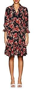 By Ti Mo byTiMo Women's Rose Tapestry-Print Crepe Wrap Dress