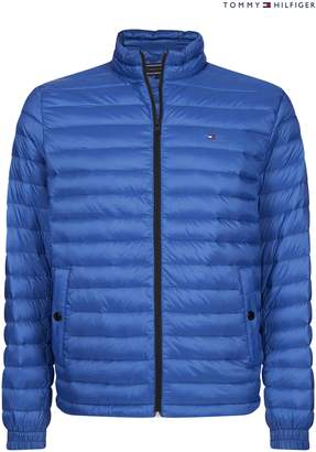 be5bc3b65515 Next Mens Tommy Hilfiger Blue Light Weight Packable Down Bomber Jacket