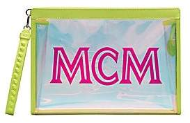 MCM Women's Medium Transparent Logo Pouch