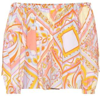 Emilio Pucci Beach Printed off-the-shoulder top