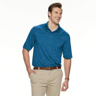 Haggar Big & Tall Cool 18 Pro Classic-Fit Space-Dye Performance Polo
