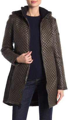 BCBGMAXAZRIA Missy Mini Quilted Zip Front Jacket