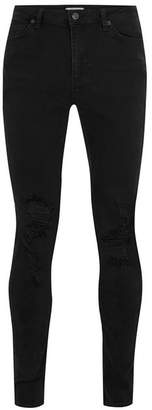 Washed Black Ripped Spray On Skinny Jeans $70 thestylecure.com