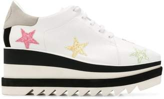 Stella McCartney Sneak-Elyse pastel star sneakers