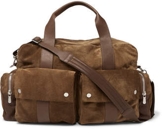 Brunello Cucinelli Suede and Full-Grain Leather Holdall - Men - Tan