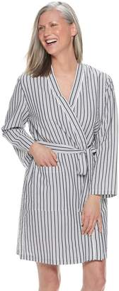 Croft & Barrow Women's Woven Wrap Robe