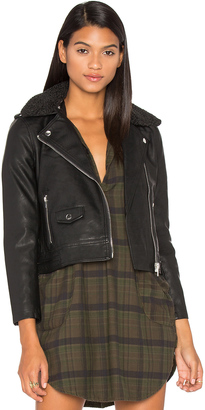 Obey Billie Vegan Leather & Faux Fur Jacket $129 thestylecure.com