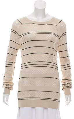 Jason Wu Striped Scoop Neck Sweater