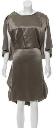 Lanvin Silk Ruffle Midi Dress